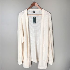 NWT White Fable Thermal Duster Cream Sweater M//L